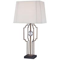 Minka-Lavery 12413-0 Signature 30 inch 100 watt Silver Leaf Table Lamp Portable Light Ambience