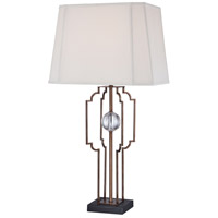 Signature 30 inch 100 watt Silver Leaf Table Lamp Portable Light