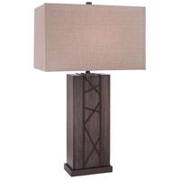 Minka-Lavery 12419-0 Signature 31 inch 100 watt Smoked Iron Table Lamp Portable Light Ambience