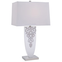 Signature 28 inch 100 watt Brushed Nickel Table Lamp Portable Light
