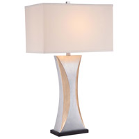 Minka Lavery Signature 1 Light Table Lamp in Silver Leaf with Gold Leaf Highlights 12425-0