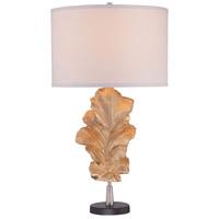 Minka-Lavery 12426-0 Signature 31 inch 100 watt Gold Leaf Table Lamp Portable Light Ambience