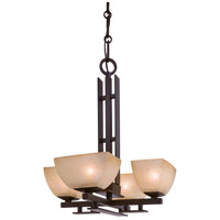 Minka-Lavery Lineage 4 Light Mini Chandelier in Iron Oxide 1259-357