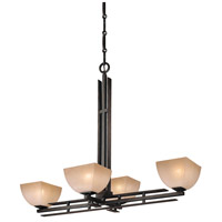 Lineage 4 Light 42 inch Iron Oxide Island Light Ceiling Light