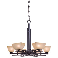 Minka-Lavery Lineage 6 Light Chandelier in Iron Oxide 1276-357