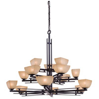 Minka-Lavery Lineage 15 Light Chandelier in Iron Oxide 1278-357