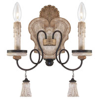 Minka-Lavery 1290-580 Jessica McClintock Accents Provence 2 Light 12 inch Provence Patina Sconce Wall Light photo thumbnail