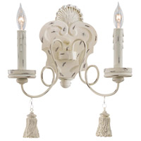 Minka-Lavery 1290-648 Jessica McClintock Accents Provence 2 Light 12 inch Provencal Blanc Sconce Wall Light photo thumbnail
