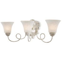 Jessica McClintock Accents Provence 3 Light 23 inch Provencal Blanc Bath Wall Light