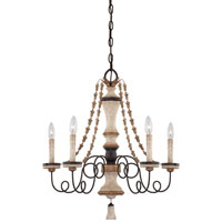 Minka-Lavery Jessica McClintock Accents Provence 5 Light Chandelier in Provence Patina 1295-580