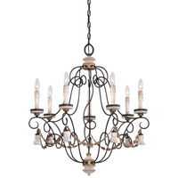 Minka-Lavery Jessica McClintock Accents Provence 7 Light Chandelier in Provence Patina 1297-580