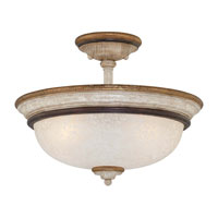 Minka-Lavery Jessica McClintock Accents Provence 3 Light Semi-flush in Provence Patina 1298-580