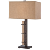 Minka-Lavery Signature 1 Light Table Lamp in Aspen Bronze 13020-0