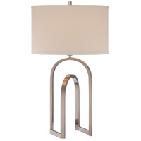 Signature 29 inch 100 watt Brushed Nickel Table Lamp Portable Light