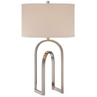 Minka-Lavery 13021-84 Signature 29 inch 100 watt Brushed Nickel Table Lamp Portable Light