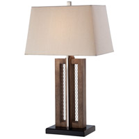 Signature 29 inch 100 watt Bark Brown Table Lamp Portable Light