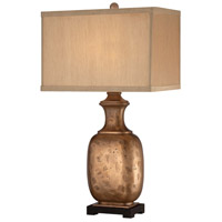 Ambience 29 inch 100 watt Metallic Polished Brass Table Lamp Portable Light