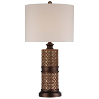 Minka-Lavery Signature 1 Light Table Lamp in Antique Silver Leaf 13043-0