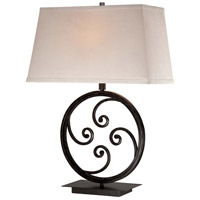 Minka-Lavery Signature 1 Light Table Lamp in Castinlina Aged Iron 13046-0