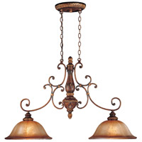 Illuminati 2 Light 41 inch Illuminati Bronze Island Light Ceiling Light
