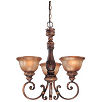 Illuminati 3 Light 23 inch Illuminati Bronze Mini Chandelier Ceiling Light