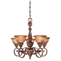 Minka-Lavery Hearst Castle Illuminati 5 Light Chandelier in Illuminati Bronze 1355-177
