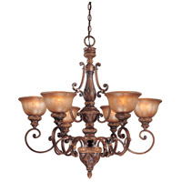 Minka-Lavery Hearst Castle Illuminati 6 Light Chandelier in Illuminati Bronze 1356-177