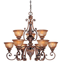 Minka-Lavery Hearst Castle Illuminati 9 Light Chandelier in Illuminati Bronze 1358-177