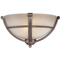 Paradox 2 Light 13 inch Harvard Court Bronze Plated Wall Sconce Wall Light