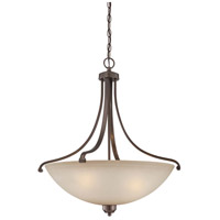 Paradox 4 Light 25 inch Harvard Court Bronze Plated Pendant Ceiling Light