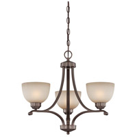 Paradox 3 Light 23 inch Harvard Court Bronze Plated Mini Chandelier Ceiling Light