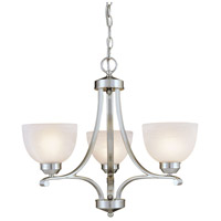 Minka-Lavery Paradox 3 Light Mini Chandelier in Brushed Nickel 1423-84 photo thumbnail