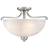 Paradox 3 Light 17 inch Brushed Nickel Semi Flush Mount Ceiling Light