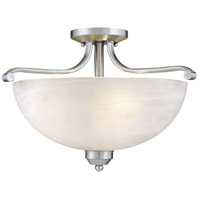 Minka-Lavery 1424-84 Paradox 3 Light 17 inch Brushed Nickel Semi Flush Mount Ceiling Light photo thumbnail