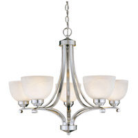 Paradox 5 Light 27 inch Brushed Nickel Chandelier Ceiling Light