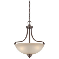 Paradox 3 Light 19 inch Harvard Court Bronze Plated Pendant Ceiling Light