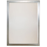 Paradox 33 X 24 inch Brushed Nickel Wall Mirror Home Decor, Beveled
