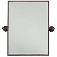 Signature 24 X 18 inch Dark Brushed Bronze Plated Wall Mirror Home Decor, Rectangle, Beveled