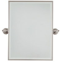 Signature 24 X 18 inch Brushed Nickel Wall Mirror Home Decor, Rectangle, Beveled