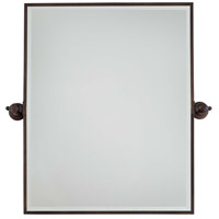 Signature 30 X 24 inch Dark Brushed Bronze Plated Mirror Home Decor, Rectangle, Beveled