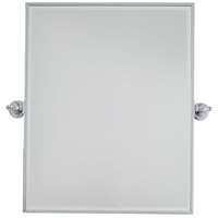 Signature 30 X 24 inch Chrome Wall Mirror, Rectangle, Beveled