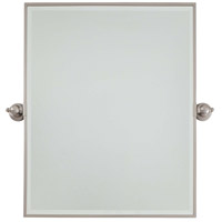 Signature 30 X 24 inch Brushed Nickel Wall Mirror Home Decor, Rectangle, Beveled