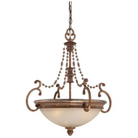 Cornerstone 3 Light 20 inch Pierre Patina Pendant Ceiling Light