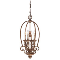 Minka-Lavery Cornerstone 4 Light Foyer Pendant in Pierre Patina 1474-562