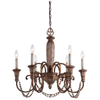 Minka-Lavery Cornerstone 6 Light Chandelier in Pierre Patina 1476-562