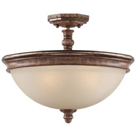 Minka-Lavery Cornerstone 3 Light Semi-Flush in Pierre Patina 1478-562