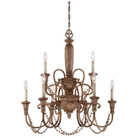 Minka-Lavery Cornerstone 9 Light Chandelier in Pierre Patina  1479-562