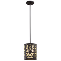 Minka-Lavery Nanti 1 Light Mini Pendant in Iron Oxide 1491-357