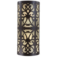 Nanti 2 Light 19 inch Iron Oxide Outdoor Wall Sconce
