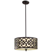 Nanti 3 Light 16 inch Iron Oxide Pendant Ceiling Light